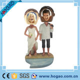 Wobbler двойного венчания Polyresin изготовленный на заказ говоря Bobble головка (HG-002)