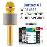 Nueva tarjeta estérea sin hilos portable del TF del soporte del micrófono del Karaoke de Bluetooth Ws-858 KTV para el teléfono de Samrt