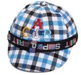 多彩格子縞の綿の循環の帽子をカスタム設計しなさい