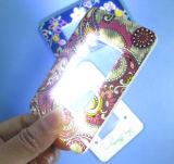 LED 빛 (HW-212X)를 가진 크레딧 크기 카드 돋보기