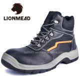 Schoenen van uitstekende kwaliteit van de Veiligheid van het Leer Pu van de Teen van het Staal de Echte Enige