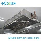 Refroidisseur d'air industriel de coup de double de saumure pour la pièce d'entreposage au froid