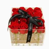 Kundenspezifischer quadratischer freier Acrylblumen-Schokoladen-Kasten