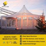 Parede de vidro transparente tendas de casamento