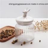 Glasstau-Glas des Nahrungsmittelgrad-300ml -1000ml mit keramischer Kappe
