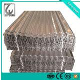 Recouvert de zinc/gi feuille de carton ondulé galvanisé/panneau de toiture/tôle de toit