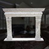 Greatful lareira em mármore branco com boa qualidade Hand-Carved, Estilo Simples