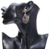 Lámpara de araña de cristal Color Bluesilver Aretes largos para las mujeres