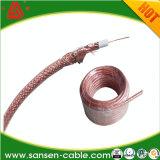 Tri коаксиальный кабель Rg59 экрана