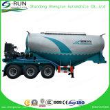 Aanhangwagen van de Tanker van het Poeder van de Aanhangwagen van de Tankwagen van het Cement van het Mortier van Shengrun de Droge