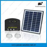 Système de d'éclairage d'énergie solaire de Rechargeble avec le chargeur de téléphone de 2 Bulbs&Mobile pour d'intérieur ou extérieur