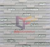 Sala de estar decoração de paredes mistura Vidro Mosaico de mármore (CFS714)