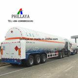 Veículo de transporte de gás natural líquido semi reboque tanque de armazenamento de GNL