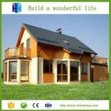 Camera di legno della villa del calibro di vacanza prefabbricata di lusso chiara della struttura d'acciaio
