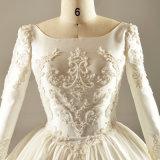 Атласная белая плакатная бумага длинной втулки Crystal устраивающих свадьбу одежды платье