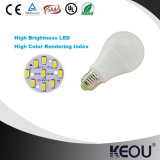 Precio competitivo Aluminio Material plástico E27 B22 Base A60 9W Lámpara