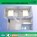 Café préfabriqué de encadrement de Chambre de conteneur d'acier de lumière de structure métallique