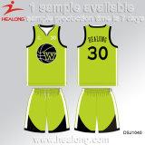 Healongの新しいデザインは販売のための衣類ギヤ昇華チームクラブバスケットボールのジャージを遊ばす