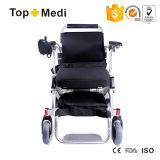 Легкая принятая портативная алюминиевая электрическая кресло-коляска для самолета Using