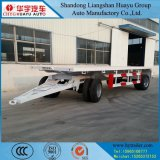 Semi Aanhangwagen van het Bed van het Vervoer van de machine de Volledige Lage met Ladder/het ZijSlot van de Raad/van de Draai