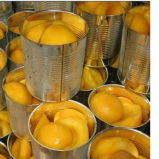 Conservas de fatias de pêssego amarelo em xarope de Luz / Alta calda