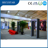 Security Gate Metal Detector with LED Alarm Bars