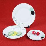 Forme ronde de la plaque de porcelaine, vaisselle, vaisselle de table
