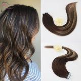 Duas cores de tons 3/24# mel misturado loira Fita colorida em extensões de cabelo humano