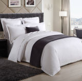 100% algodão 200 Thread Count Plain White Bedding Sets