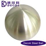 bola de metal del espejo de la depresión del acero inoxidable 304 de 50m m 80m m 100m m con aplicado con brocha Polished