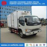 JAC 4X2小さい1.5tonsの3tons冷却装置フリーザーのトラックの5tonsによって冷やされているトラック