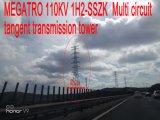 Multi torretta della trasmissione di tangente del circuito di Megatro 110kv 1h2-Sszk