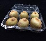 caja de embalaje plástica de encargo de la fruta de kiwi de la impresión (bandeja del alimento)