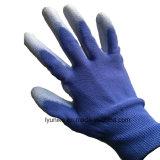 Пвх пунктирной оснащения бесплатно безопасности PU покрытием перчатки