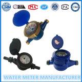 Multi-Jet esfera seca Vane Tipo de rueda del contador del agua