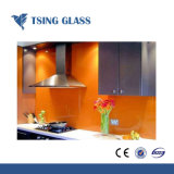Red Green Black White Blue Painted Glass for Billboard Cabinet Glass