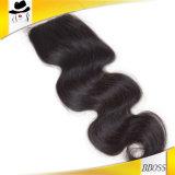 Chiusura brasiliana 2.5*4 della parte superiore del merletto con 100 per cento dei capelli di Remy