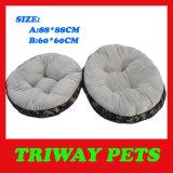 연약한 편리한 Flannel 개 침대 (WY161076-6A/B)