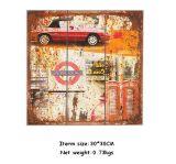 목제 벽 예술에 가정 장식 인쇄 목제 패