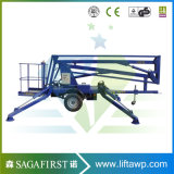 최신 Sale 10m 14m Battery Hydraulic Towable Articulating Boom