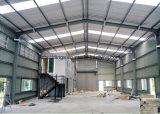 Almacén de acero acanalado prefabricado de los edificios del metal de hoja