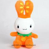 Супер Мягкий защитный комбинезон игрушка фаршированные животных шикарные кролик с фруктами вышивка