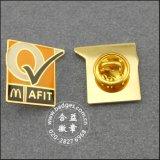다이아몬드 (GZHY-LP-031)를 가진 크라운 모양 접어젖힌 옷깃 Pin 금관 악기 기장