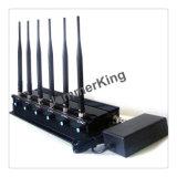 셀룰라 전화 신호 차단제 또는 방해기 의 50meters까지 16W 2g/3G/4G 셀룰라 전화 +GPS+Lojack 신호 방해기; 정지되는 6 Bandsmobile 전화 신호 절연체