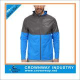 Mens Long Sleeve Full zip veste de sport léger et étanche au vent
