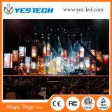 屋内レンタル舞台の背景のLED表示