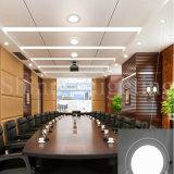 il soffitto sottile degli indicatori luminosi di comitato del tondo LED di 6W SMD 2835 giù si illumina per l'illuminazione del centro commerciale e dell'alloggiamento