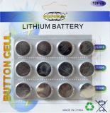batteria delle cellule del tasto di tasto dell'automobile del litio 3V (CR2032/CR2025/CR2016)