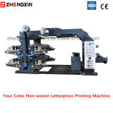 Máquina de impressão de tipografia de quatro cores Tela não tecida Zxh-C41200