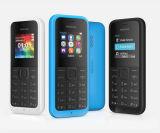 N105 original recondicionado 1050 1.4 cor multilíngue destravada tela do vermelho azul 3 do preto do telefone móvel da G/M do telefone da polegada